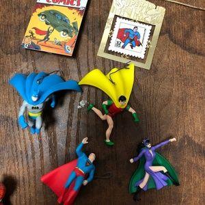 DC Ornaments --Batman, Superman, Catwoman & More